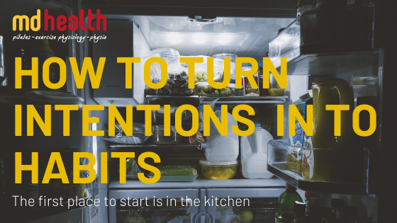 Nutrition: How to Turn Intentions in to Habits